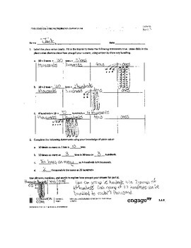 NYS 4th Grade Math Module 1 Problem Set Answers