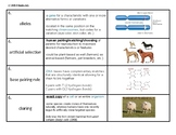 "NYS Biology/Living Environment ""Genetics"" Vocabulary Strips"