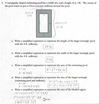 New York State Common Core Aligned - Algebra 1 - Factoring Applications