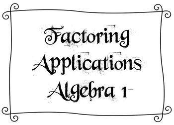 New York State Common Core Aligned - Algebra 1 - Factoring