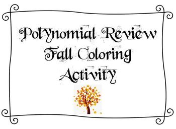 Polynomial Review Fall Coloring Page