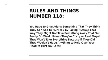 NYS CC ELA GR6 Module 2A:  Bud's Rules to Live By Posters
