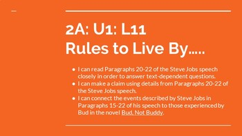 NYS CC ELA GR6 Module 2A Unit 1 Bundle: Rules to Live By