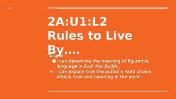NYS CC ELA GR6 Module 2A Unit 1 Lesson 2: Rules to Live By