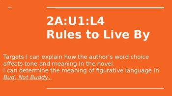 NYS CC ELA GR6 Module 2A Unit 1 Lesson 4: Rules to Live By