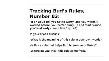 NYS CC ELA GR6 Module 2A Unit 1 Lesson 5: Rules to Live By