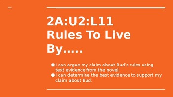 NYS CC ELA GR6 Module 2A Unit 2 Lesson 11: Rules to Live By