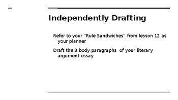 NYS CC ELA GR6 Module 2A Unit 2 Lesson 13: Rules to Live By