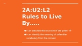 NYS CC ELA GR6 Module 2A Unit 2 Lesson 2: Rules to Live By