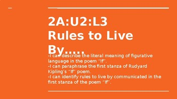 NYS CC ELA GR6 Module 2A Unit 2 Lesson 3: Rules to Live By