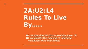 NYS CC ELA GR6 Module 2A Unit 2 Lesson 4: Rules to Live By