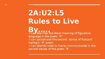 NYS CC ELA GR6 Module 2A Unit 2 Lesson 5: Rules to Live By