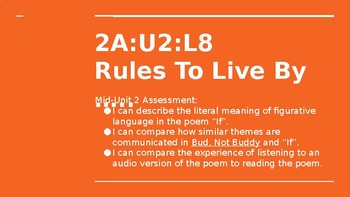 NYS CC ELA GR6 Module 2A Unit 2 Lesson 8: Rules to Live By