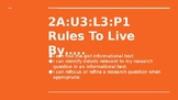 NYS CC ELA GR6 Module 2A Unit 3 Lesson 3: Rules to Live By