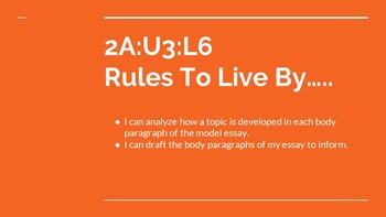 NYS CC ELA GR6 Module 2A Unit 3 Lesson 6: Rules to Live By