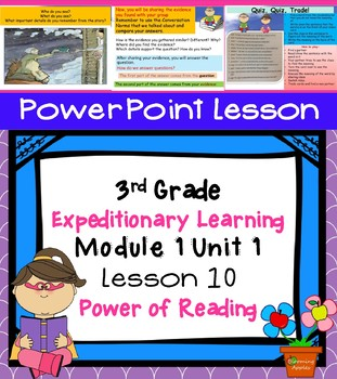 Expeditionary Learning 3rd Grade Power Point Lesson Module 1 Unit 1 Lesson 10