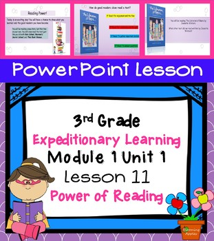 Engage NY Expeditionary Learning  3rd grade Module 1Unit 1 Lesson 11 PowerPoint