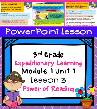 Engage NY Expeditionary Learning 3rd grade Module 1 Unit 1 Lesson 3 Power Point