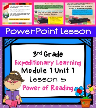 Engage NY Expeditionary Learning 3rd grade Module 1 Unit 1 Lesson 5 Power Point