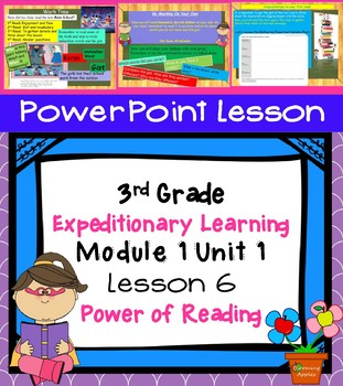 Engage NY Expeditionary Learning 3rd grade Module 1 Unit 1 Lesson 6 PowerPoint