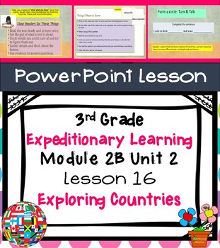 Engage NY Expeditionary Learning 3rd grade Module 2B Unit 2 Lesson 16 PowerPoint