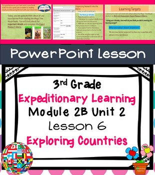 Expeditionary Learning 3rd Grade Module 2B Unit 2 Lesson 6