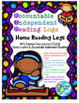 NYS Common Core Accountable Independent Reading Logs