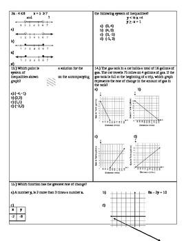 NYS Common Core Algebra Module 1 Review Test