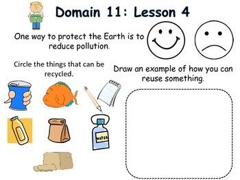 NYS Common Core: Domain 11 response journal and activities: Kindergarten