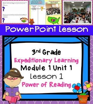 Free Common Core ELA 3rd Grade Expeditionary Learning Module 1 Unit 1 Lesson 1