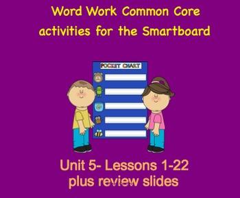 NYS Common Core ELA Skill Strand Unit 5 for First Grade (Smartboard)