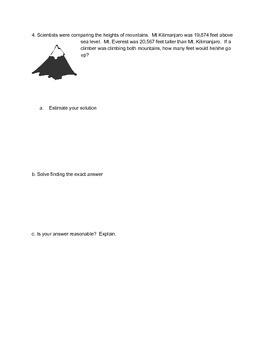 NYS Common Core NY 4th Grade Eureka Math Module 1 Tape Diagram Problem Solving