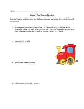 NYS Common Core NY 4th Grade Eureka Math Module 1 Tape Dia