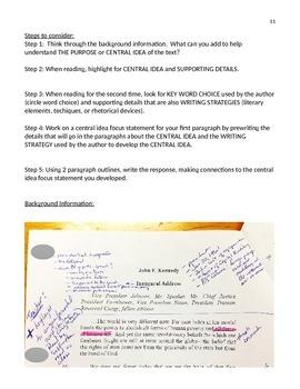 NYS Common Core English Regents, Part 3 Prep - JFK Inaugural Address