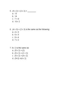 NYS Common Core Eureka Math 3rd Grade Math Module 1 Lessons 14 - 21 Assessment
