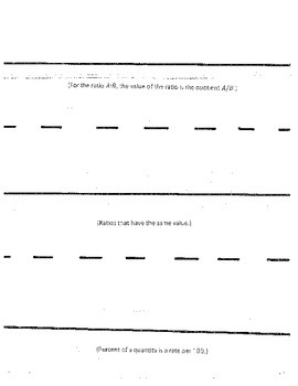 NYS Common Core Gr.6  Module 1 Topic A Foldables for interactive math notebook