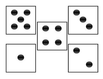 NYS Common Core Math Module 1 - Kindergarten Lesson 8 dot cards