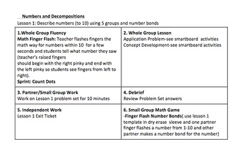 NYS Common Core Math Module 1 for First Grade Daily Lesson Plans (1-39)