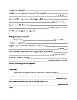 NYS Common Core Regents ELA Exam- Part 2 Outline