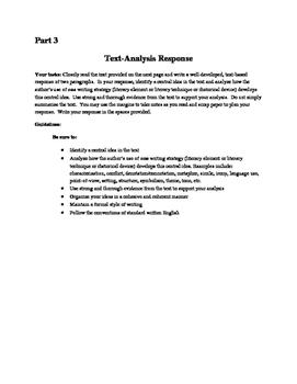 NYS Common Core Regents ELA Exam, Part 3 Practice- The School