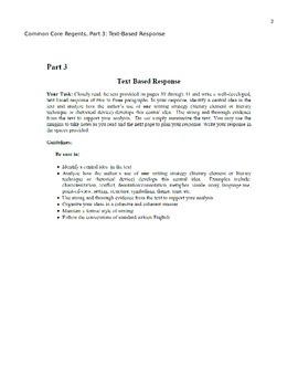 NYS Common Core Regents, Part 3 - JFK Speech - My approach