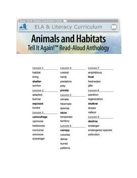 NYS ELA L&L Module 8 Early Animals And Habitats