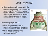 NYS ELA Module 2, Unit 2, Everything You Need to Know About Frogs