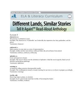 NYS ELA Module 3 Different Lands/Similar Stories Vocabulary
