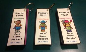 NYS ELA Skill Strand Modules First Grade Unit 4 Fluency Flip Cards