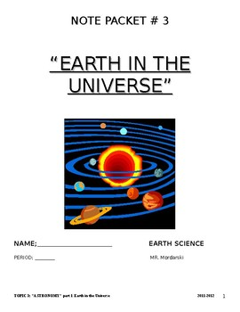 NYS Earth Science PPT Astronomy unit notes