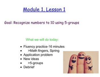 NYS Engage NY First Grade Math Module 1 Smart Board Lessons