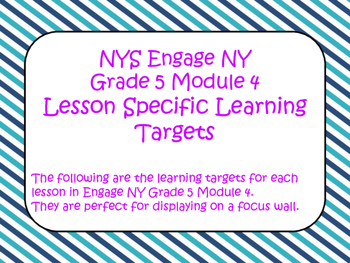 Engage NY Grade 5 Module 4 ELA Standards