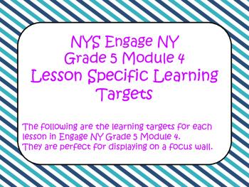 Engage NY Grade 5 Module 4 ELA Standards