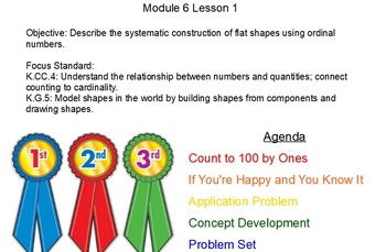 NYS Engage NY Kindergarten Math Module 6 Smart board Lessons